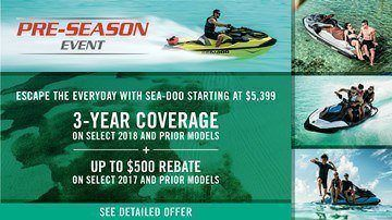 Sea-Doo - Pre-Season Sales Event